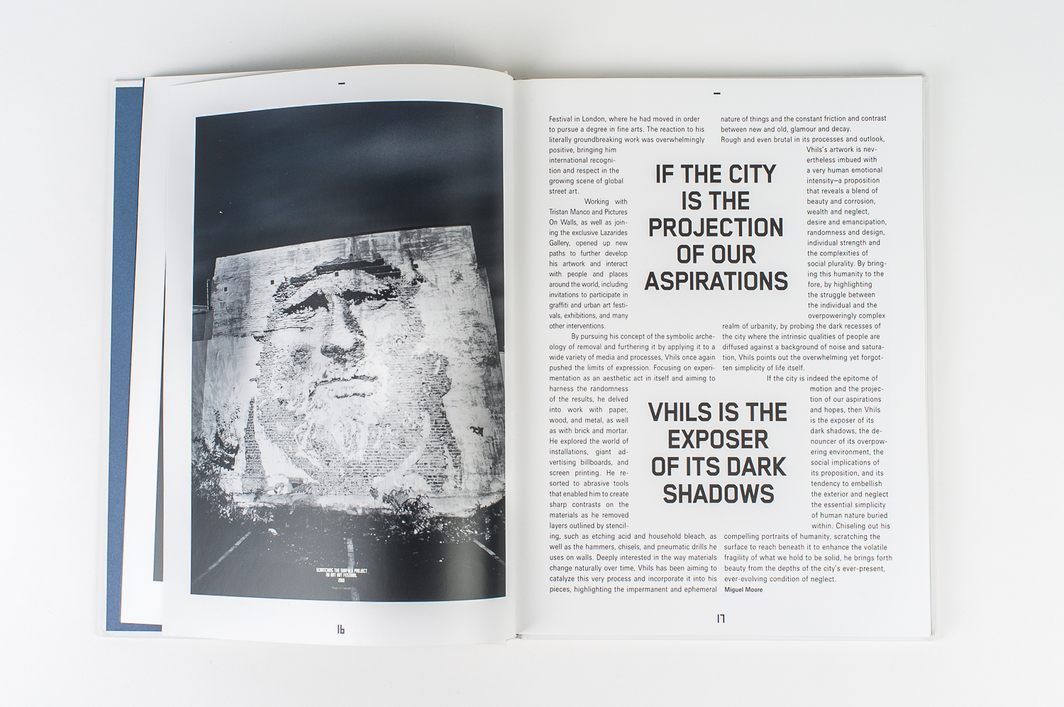"Photo of a Stavanger mural, for ""Vhils"", a collection of work from the german street artist. Published on Gestalten Verlag (Hamburg), 2011"