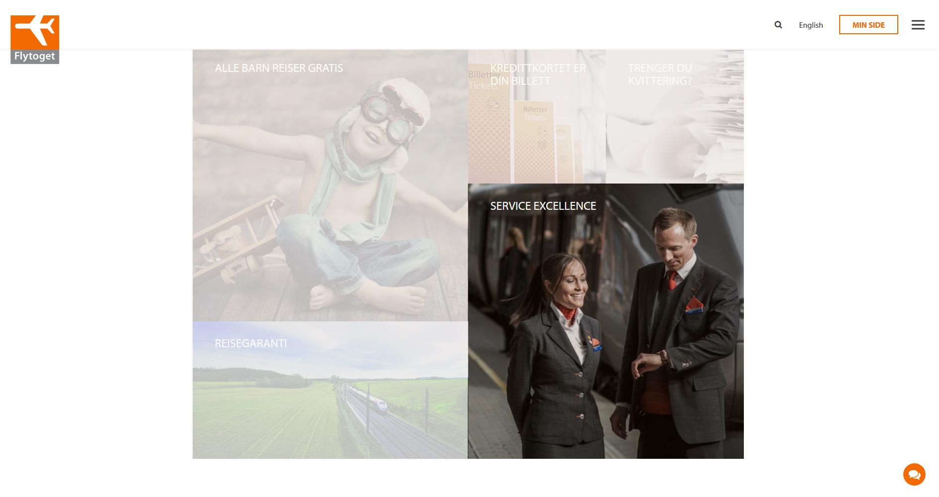 Illustration image on Flytoget.no web-site